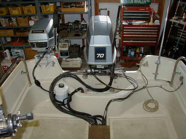 rear inside whalercentral boston whaler boat information and photos boston whaler wiring diagram at nearapp.co
