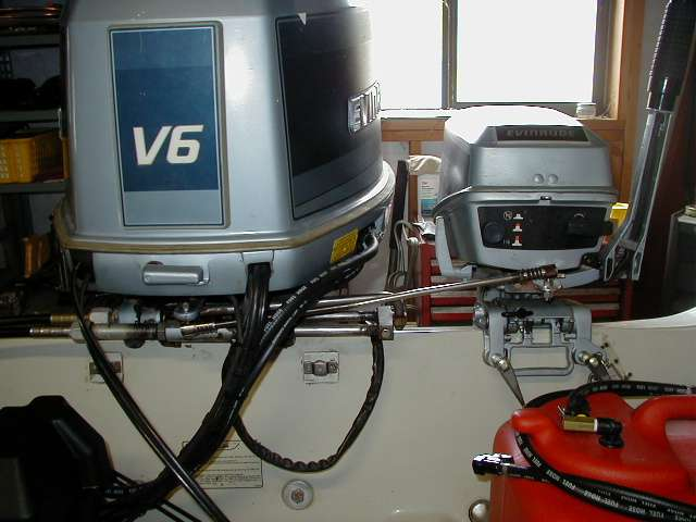 how to change a steering cable on an outboard motor